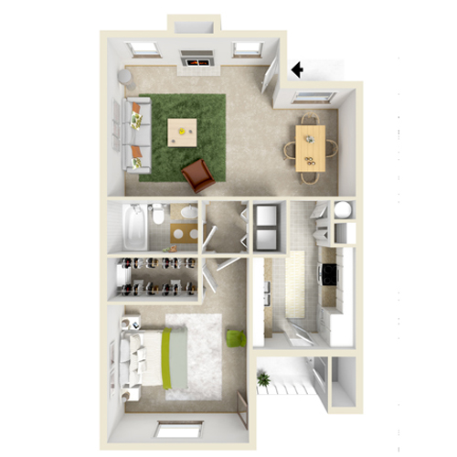 One Bedroom/One Bath